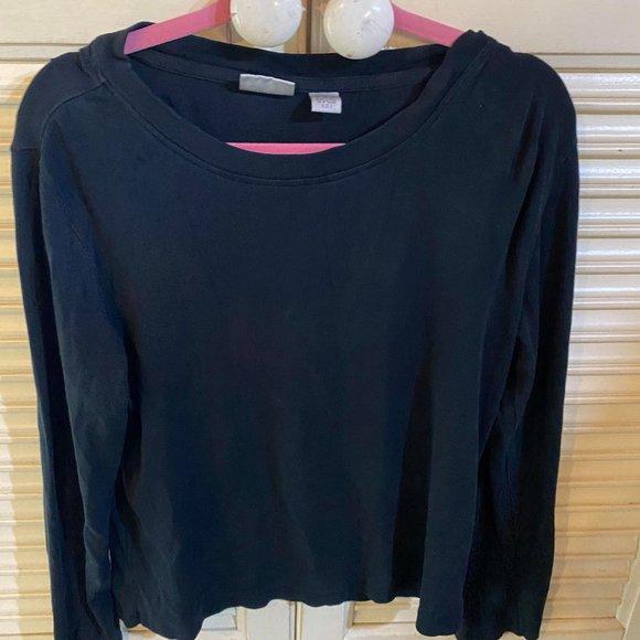 Chico's 3/4 length black t-shirt size 2